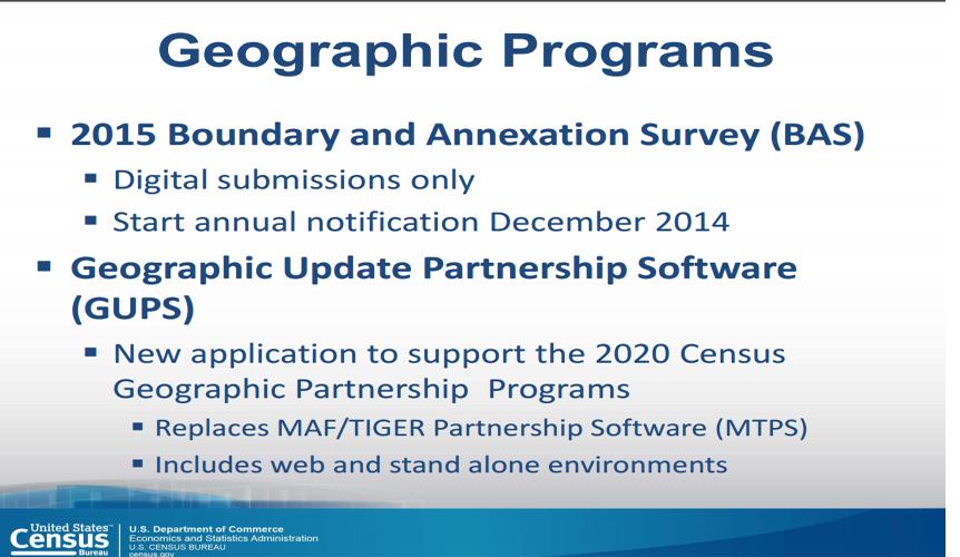 Census Geographic Update Partnership Software | IBR